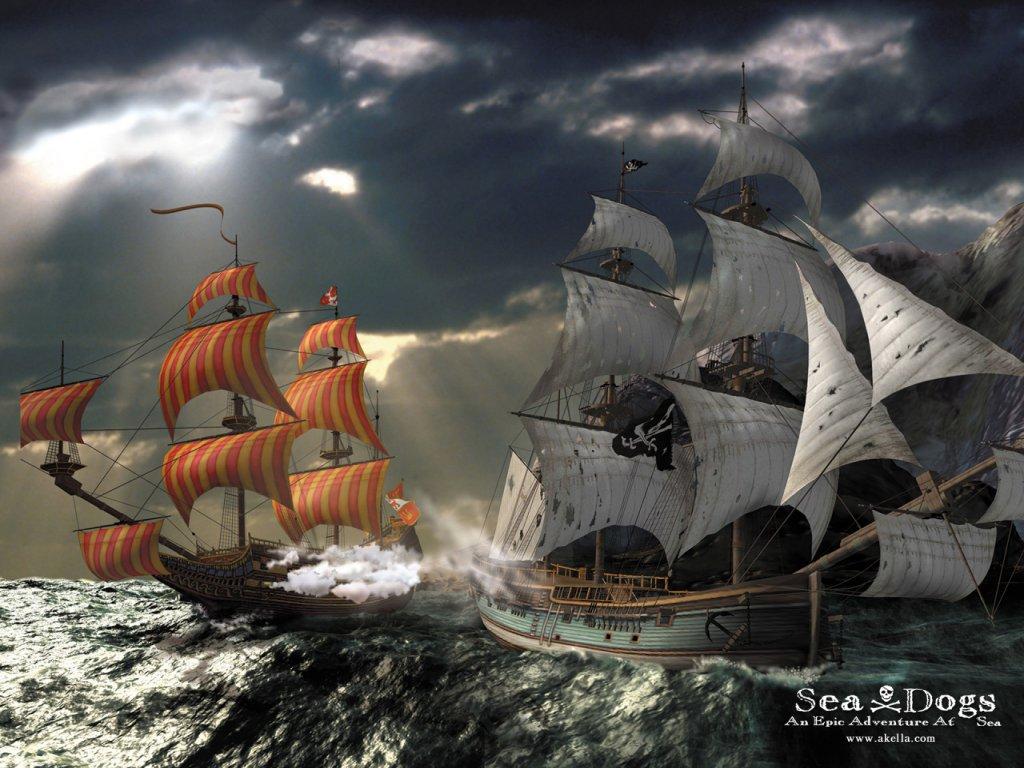 Пиратские корабли обои для рабочего стола 4