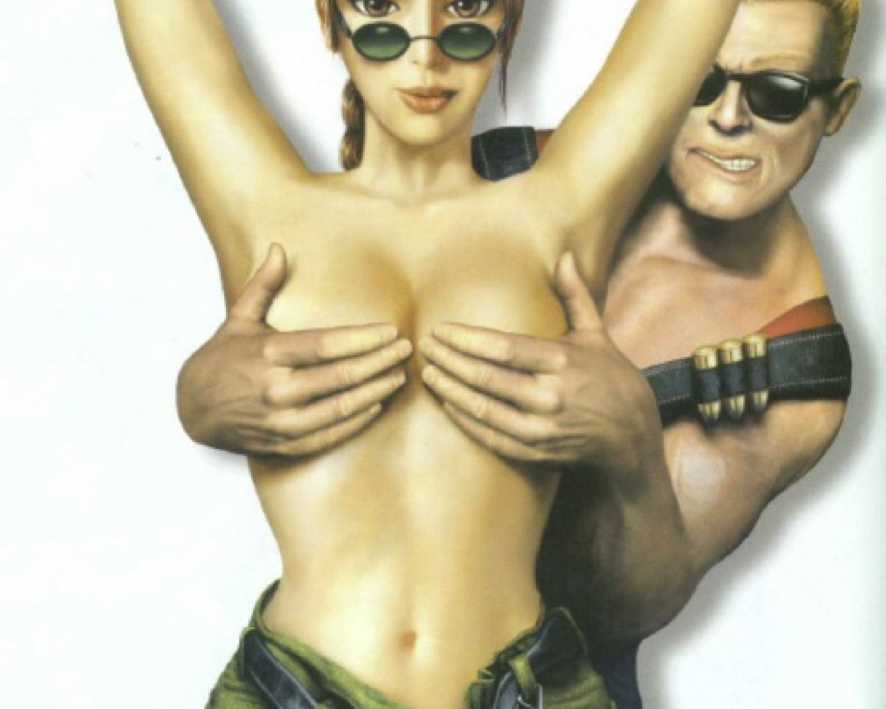 Lara croft nu fake exposed pics